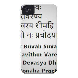 Texto sánscrito original:  El mantra de Gayatri, iPhone 4 Case-Mate Carcasas