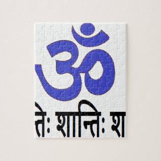 Texto sánscrito original:  mantra de la paz del puzzle