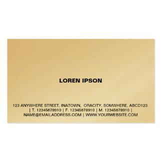 Texto simple 08 - blanco (oro) tarjetas de visita