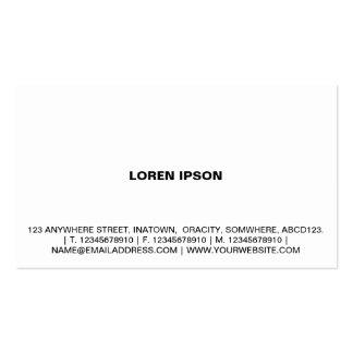 Texto simple 08 - blanco tarjetas de visita