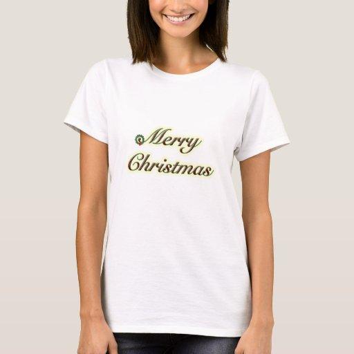 Texto simple de las Felices Navidad con la Playera