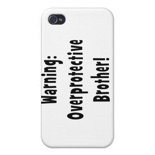 texto sobreprotector amonestador del negro del her iPhone 4 funda