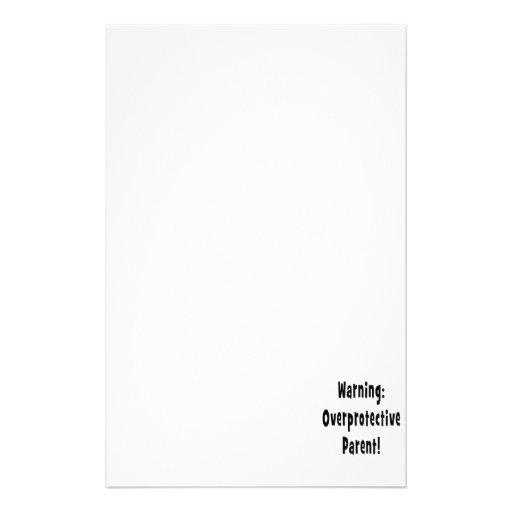texto sobreprotector amonestador del negro del pad personalized stationery