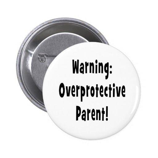 texto sobreprotector amonestador del negro del pad pins