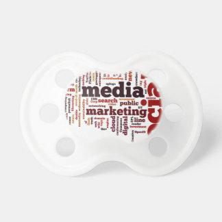 texto social de los medios de la palabra-nube chupetes para bebes