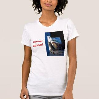 Texto solo casero del lado de la camiseta camisas
