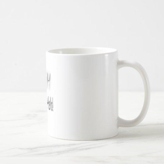 Texto tonto taza de café