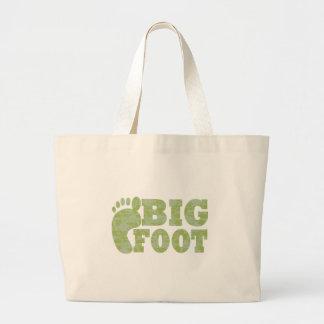 Texto verde de Bigfoot del camuflaje Bolsa De Mano