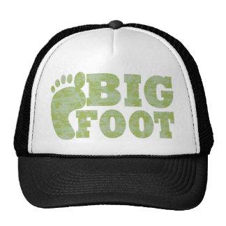 Texto verde de Bigfoot del camuflaje Gorro De Camionero