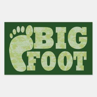 Texto verde de Bigfoot del camuflaje Pegatinas
