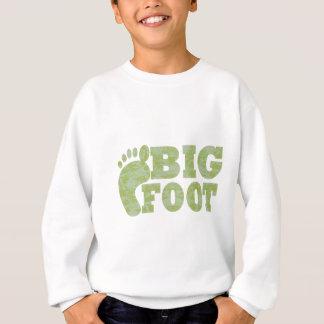 Texto verde de Bigfoot del camuflaje Playeras