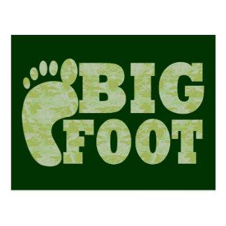 Texto verde de Bigfoot del camuflaje Postal