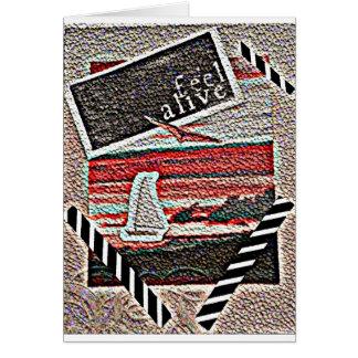 Texto vivo de la sensación del velero de la tarjeta de felicitación