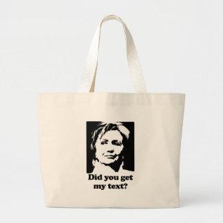 Textos de Hillary Bolsa De Mano