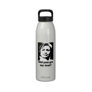 Textos de Hillary Botellas De Beber