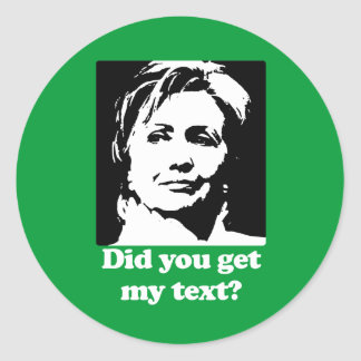 Textos de Hillary Etiqueta Redonda