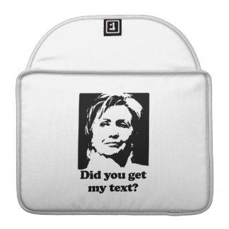 Textos de Hillary Fundas Para Macbook Pro