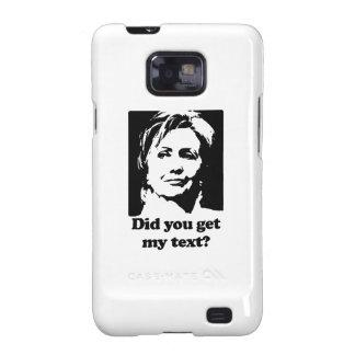 Textos de Hillary Galaxy SII Carcasa