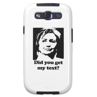 Textos de Hillary Galaxy SIII Cárcasa