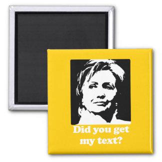 Textos de Hillary Imán De Nevera
