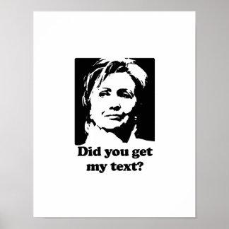 Textos de Hillary Impresiones