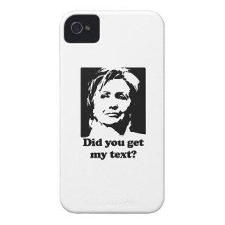 Textos de Hillary iPhone 4 Funda
