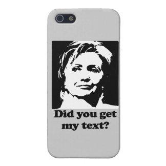 Textos de Hillary iPhone 5 Carcasas