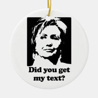 Textos de Hillary Ornamentos De Navidad