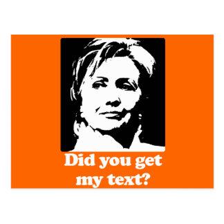 Textos de Hillary Postales
