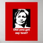 Textos de Hillary Poster