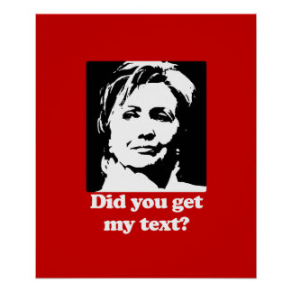 Textos de Hillary Póster