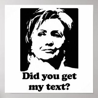 Textos de Hillary Posters