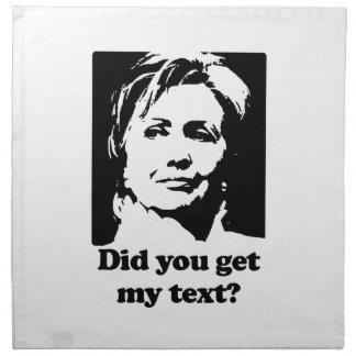 Textos de Hillary Servilletas De Papel