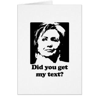 Textos de Hillary Tarjeta