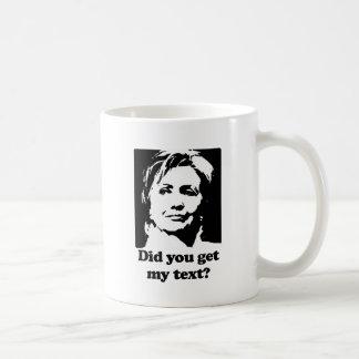 Textos de Hillary Taza De Café