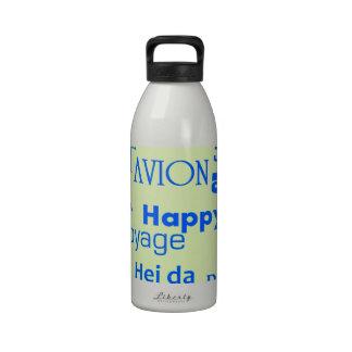 Textos del viaje botellas de agua reutilizables