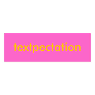 TEXTPECTATION Flirty Card Double-Sided Mini Business Cards (Pack Of 20)