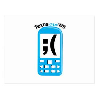 Texts Can W8 Postcard