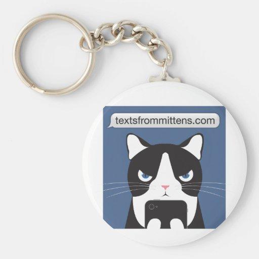Texts from Mittens Basic Keychain