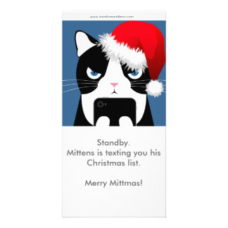 Texts from Mittens Christmas Photocard Photo Card