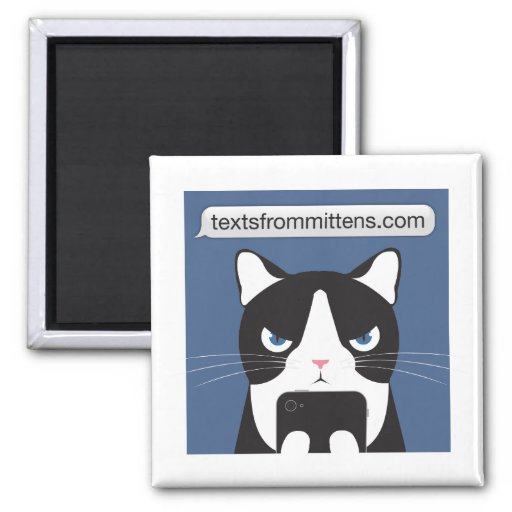 Texts from Mittens Square Magnet Magnets