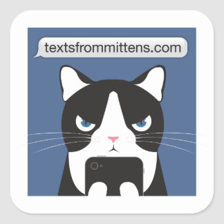 Texts from Mittens Sticker
