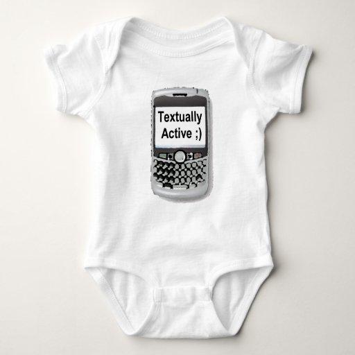 Textual Active Camisetas