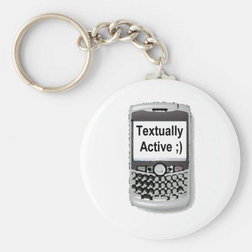 Textual Active Llavero Redondo Tipo Pin
