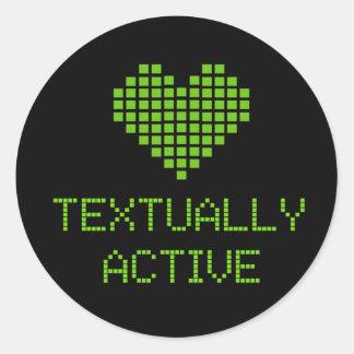 Textual Active - pegatina