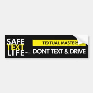 Textual Masters Bumper Stickers