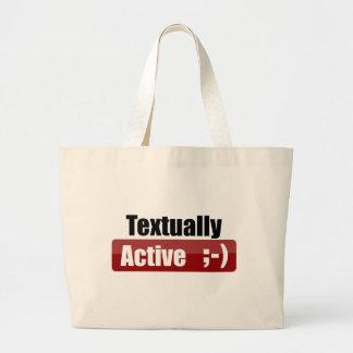 Textually Active Canvas Bag