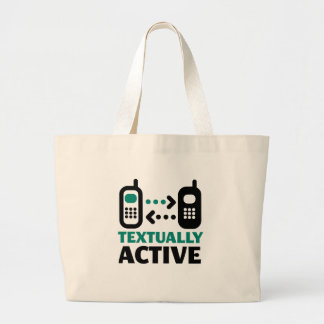 Textually Active Tote Bags