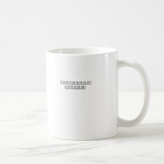 textually active. coffee mug