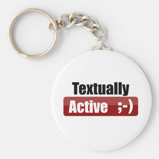 Textually Active Key Chains